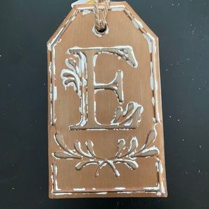 """Decorative """"E"""" metal sign from Michaels"""